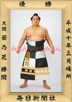 平成10年3月場所優勝 大関 若乃花勝関(4回目の優勝)