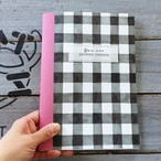 Meditation Notebook【Pink・無地A5変形サイズ38ページ】ギンガムチェック