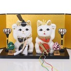 雛人形 招き猫セット / S-Size / 白(White)
