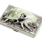 天然貝名刺カードケース(エンジェル)シェル・螺鈿アート