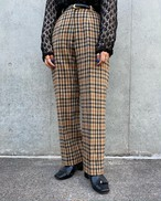(PAL) plaid tuck pants