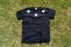 【Round star T-shirt】/ black