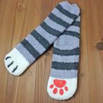 【ルームソックス】猫の足ソックス(グレイ)【猫雑貨 靴下】