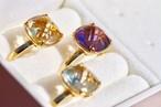 【リング追加/3個セット¥13400→¥10000】quartz rings【期間限定ジュエリーボックスプレゼント!】
