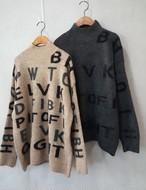 アルファベットニット ニット セーター 韓国ファッション