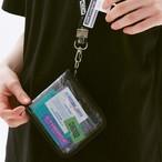 ジッパー 二つ折り財布 クリア(コイン収納可)