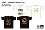 KOB USA × 24karats COLLABORATION T-shirt