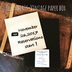 【10月中旬ごろお届け】予約販売/オリジナルBOX入りヴィンテージペーパーBOX