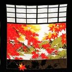 【秋】レーヨンちりめん いろどり月 クロ 45㎝ 風呂敷