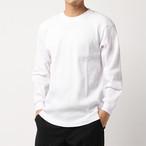 8.1oz Heavy Weight Waffle L/S Cut&Sewn - White -