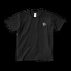 Hollywood ワンポイント Tシャツ (黒/白)