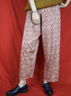 flower pattern easy pants【0464】