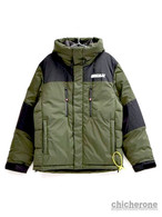 【MARK GONZALES】HOODED PUFFY JACKET GREEN