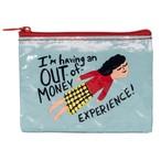 【Blue Q/ブルーキュー】コインケース「私はお金のない経験をしています」