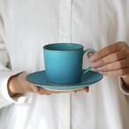 カップ&ソーサー  (ターコイズブルー釉)