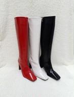 予約注文商品 エナメルブーツ ブーツ 韓国ファッション