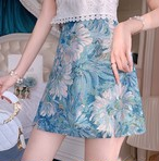 elegant フラワー スカート c0237