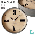KATOMOKU muku clock 17 グレー km-118GRRCS SKP電波時計