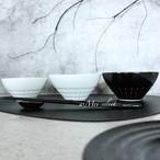 【M,L/2個SET】モノトーンペア茶碗【選べる4種類】ご飯茶碗 器 食器 丼 テーブルコーディネート ランチ 和食 ハンドメイド