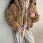 コーデュロイぺディン コーデュロイジャンパー アウター 韓国ファッション