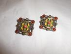 四角イヤリング(ビンテージ) vintage earrings(Made in U.S.A.)