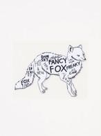ファンシーフォックス 刺繍パッチステッカー