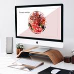 【デスクトップ画像】iMac用_Flower-circle