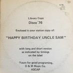 Disco '76 ‎– Happy Birthday Uncle Sam