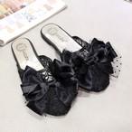 ribon lace flat sandals 1674
