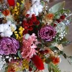 ドライの花かごアレンジメント