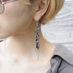 swarosvski rhinestones and steel chain / Pierces