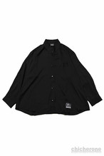 【SILLENT FROM ME】ELEGANT -Stand Up Collar Shirts- BLACK