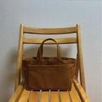 「ボックストート」ミニサイズ 「キャメル」帆布トートバッグ 和泉木綿帆布
