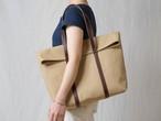 【受注製作】革と帆布のトートバッグ チノベージュ