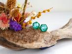 ターコイズ ヘキサゴン ♦︎ 原石ピアス/イヤリング グリーン 天然石 トルコ石