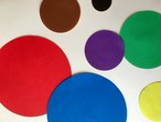 CIRCLE SHAPE COLORED PAPER