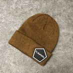 PENTAGON EMBLEM KNIT CAP (BROWN)