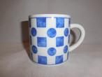 四角と丸模様のマグカップ porcelain Mug(made in Japan)(No1)