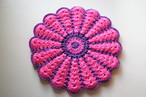 お花のフワフワ円座*purple x pink