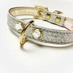 glitter collar  silver