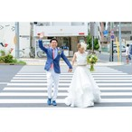 Confetti\ Bride♡ フリルオーガンジースカートのセパレートドレス