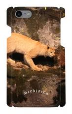 iPhone7用 スマホケース 動物たち 【やまねこ】