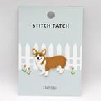 【Stitch patch】ウェルシュコーギーワッペン【stp05】
