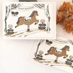 活版印刷カード 祝福のサーカス