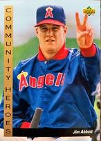 MLBカード 93UPPERDECK Jim Abbott #31 ANGELS COMMUNITY HEROES