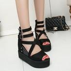 【shoes】ファッション無地ハイヒールサンダル20839133
