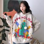 【tops】プリントファッションフード付きパーカー24953391