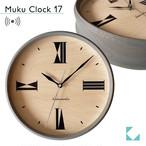 KATOMOKU muku clock 17 グレー km-118GRRC 電波時計