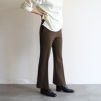 PHEENY【 womens 】double cloth high waist semi flared slacks