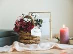 Mini Flower Basket_Fairy Red◆Artificial